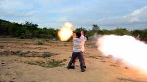 Firing RPG in Cambodia