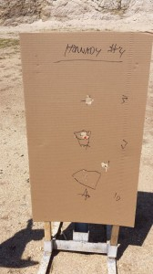 Buckshot patterning exercise at Chris' shotgun class