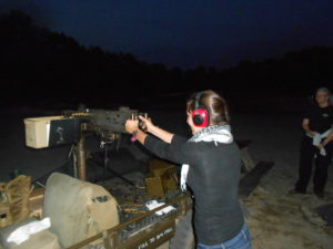 Lauren shooting the .50