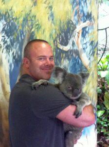 The obligatory Koala cuddle