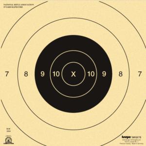 25 Yard Rapid or Timed Fire Pistol Target