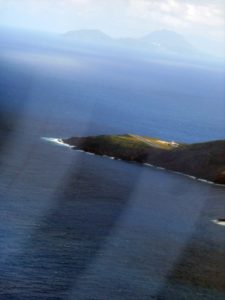 The Saba airstrip as viewed from the prop plane's approach