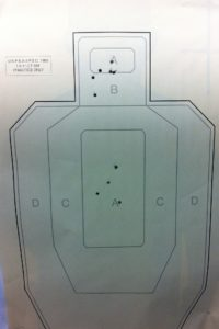 My combined shots with Glock 19 and Glock 42. That low head shot? Don't worry about that little guy!