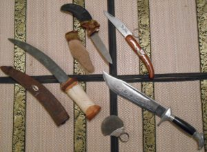 """All of these knives were purchased at third world markets as """"souvenirs."""""""