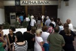 Lines at a Greek ATM