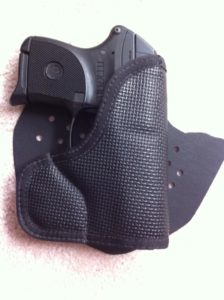 Pre-pruduction version of the pocket shield carrying Ruger LCP