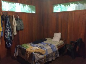 My jungle accommodations at the plant sanctuary