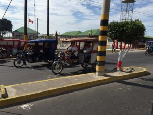 """Unusual in most of South America, but in Iquitos, the """"tuk-tuk"""" motor taxi was common. The town very much reminded me of Cambodia."""