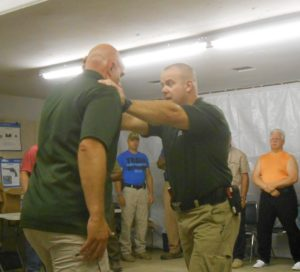 Teaching body positioning to resist forward aggression