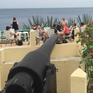 The Cubans like their canons. Probably wouldn't be my first choice for a lunch table.