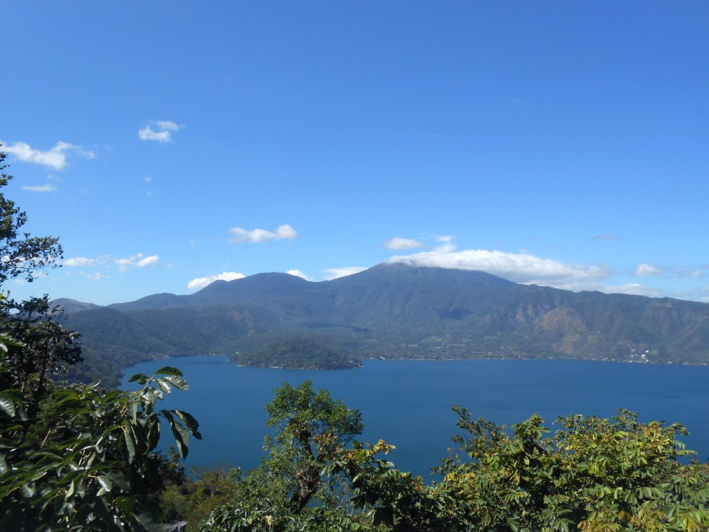 Volcanic crater lake outside of San Salvador.