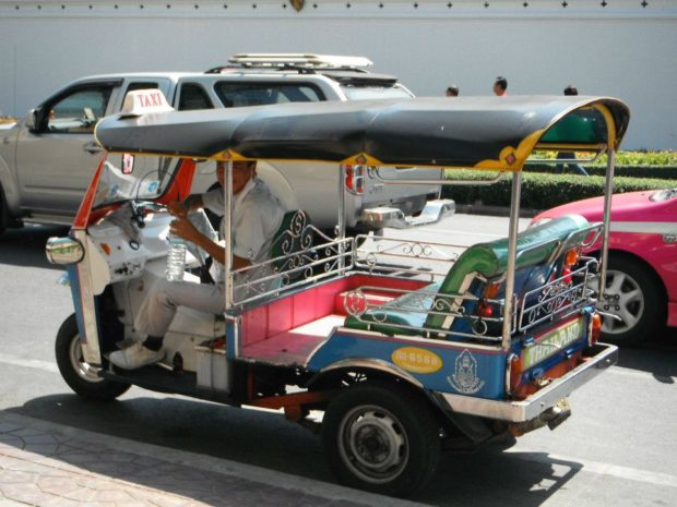 """You might be asking: """"What the hell is a Tuk-Tuk?"""" Here is a photo..."""