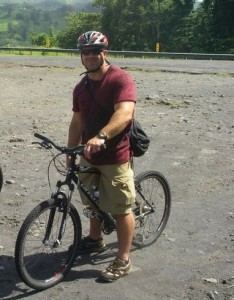 The author on a mountain biking trip in Costa Rica