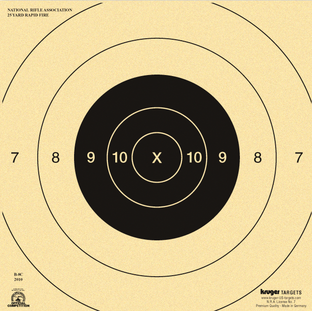 This is a photo of Nra B-8 Target Printable for arm