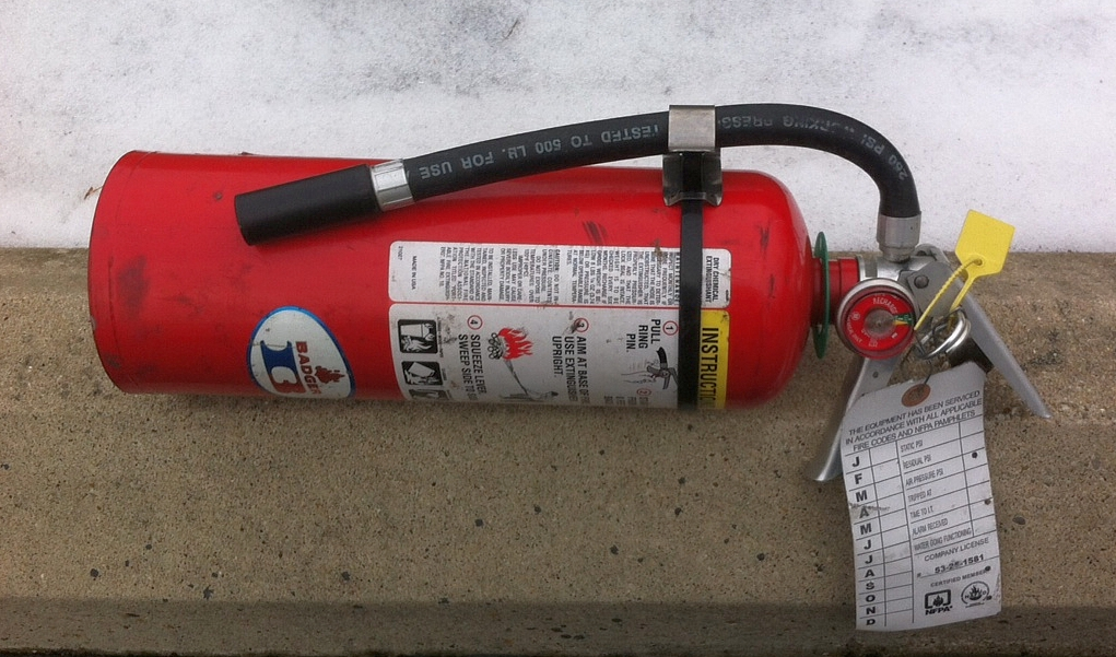 Using a Fire Extinguisher as a Weapon