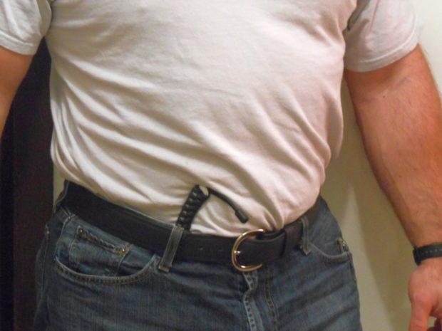 """Talonz Ceramic Knife in """"slip sheath"""" stuck in waistband"""